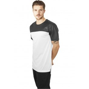 Tričko Urban Classcis Football Mesh Long Jersey White Black