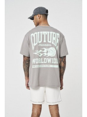 COUTURE WORLDWIDE VARSITY GRAPHIC T-SHIRT
