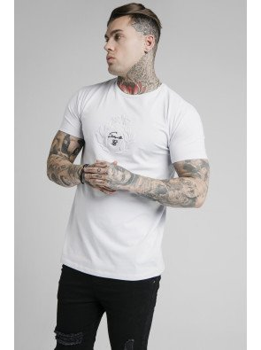 SIKSILK S/S EMBOSSED PRESTIGE GYM TEE