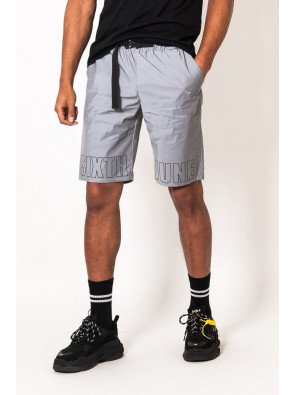 Reflective logo shorts grey