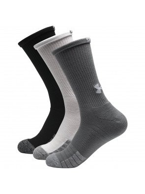 Under Armour Heatgear Crew Grey Steel Sock 3-Pack