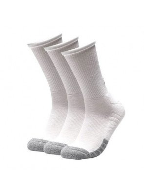 Under Armour Heatgear Crew White Steel Sock 3-Pack