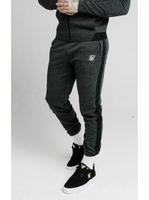 SIKSILK TONAL CHECK CUFFED PANTS