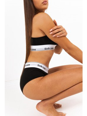 MID RISE BOXER PANTS WITH LOGO TAPING