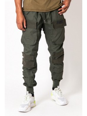Sixth June large tactical cargo pants kaki