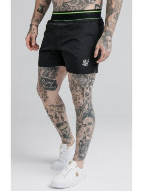 SIKSILK ADAPT CRUSHED NYLON SWIM SHORTS