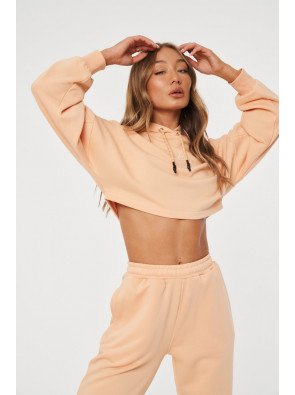SIGNATURE EMBROIDERED CROPPED HOODIE