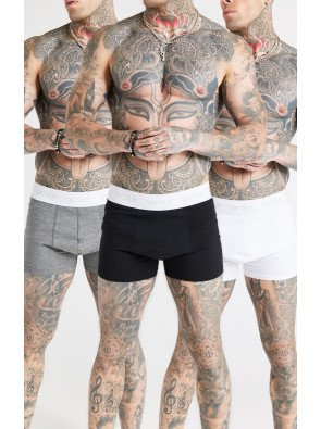 SIKSILK BOXERS (PACK OF 3) CORE