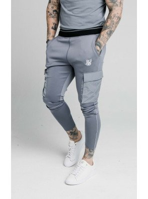 SIKSILK ADAPT CRUSHED NYLON CARGO PANT