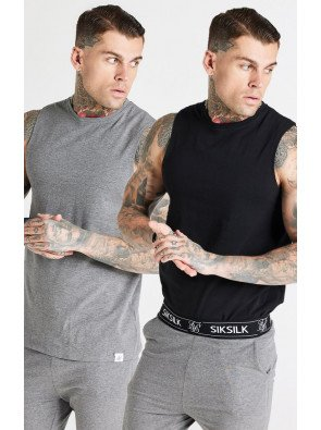 SIKSILK LOUNGE VESTS (PACK OF 2)