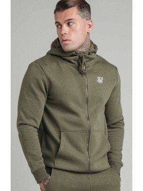 SIKSILK ZIP THROUGH FUNNEL NECK HOODIE
