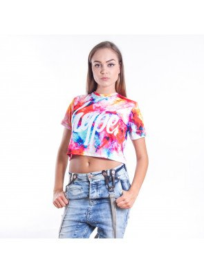 Crop top tričko Hype Cloud Space Multi