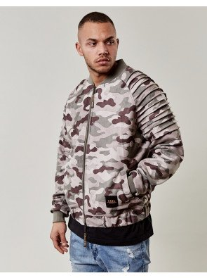 Bombera C&s BL Pleated Knitted Camo Beige