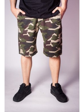 Kraťasy Backyard Cartel Comfort Fit Camo Green