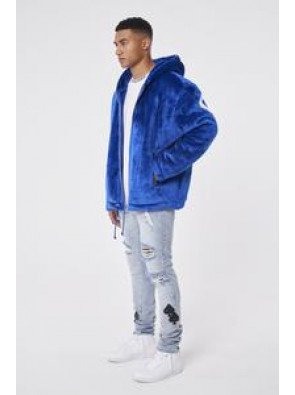 COUTURE FUR APPLIQUE OVERSIZED HOODIE
