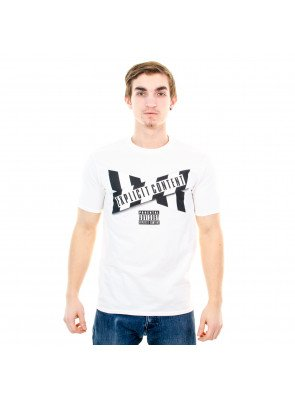 Tričko Starter Tape Tee Parental Advisory White Black
