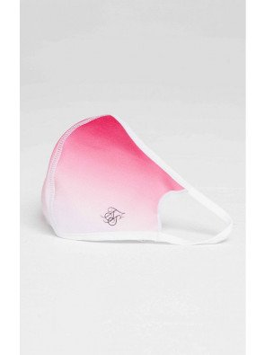 SIKSILK FACE COVERING PINK / WHITE