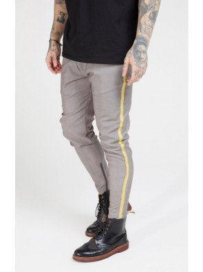 SikSilk Fitted Smart Tape Jogger Pants –Grey