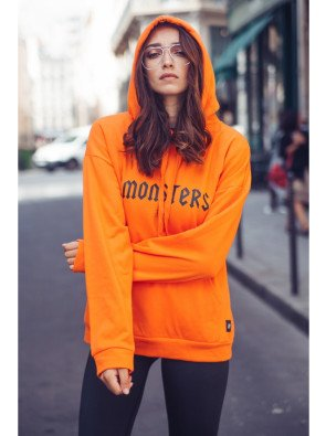 Sweat capuche Monsters Tour Sixth June orange