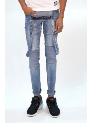 Rifle Sixth June Dungaree Biker Blue