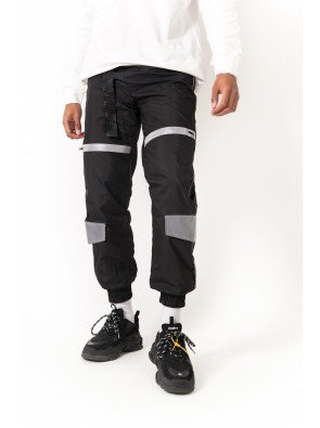 SIXTH JUNE BLACK JOGGING WITH REFLECTIVE