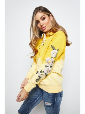 SIKSILK FLORAL EMBROIDERED OVERHEAD