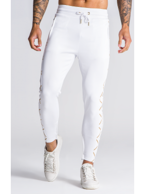 GIANNI KAVANAGH White Gold Chain Joggers
