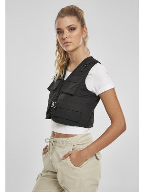 Ladies Short Tactical Vest black