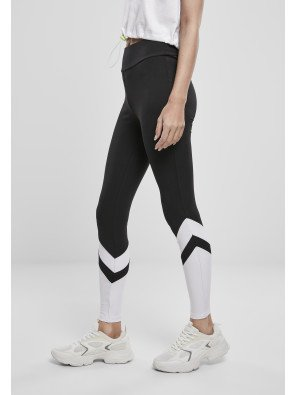 Ladies Arrow High Waist Leggings black/white