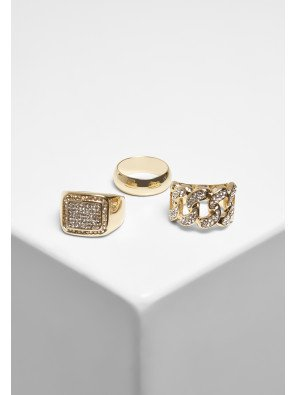 Diamond Ring 3-Pack gold