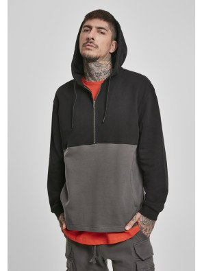 Relaxed Half Zip Hoodie black/darkshadow
