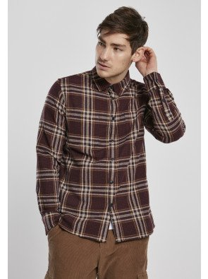Checked Campus Shirt cherry/honey