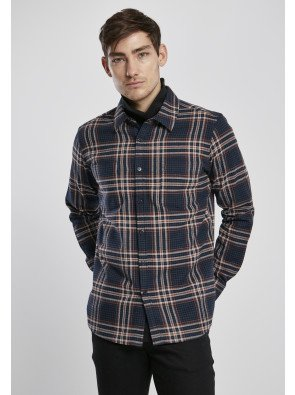 Checked Campus Shirt darkblue/rustred