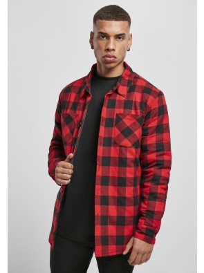 Padded Check Flannel Shirt black/red