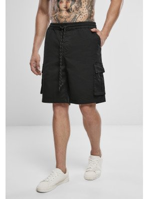 Drawstring Cargo Shorts black
