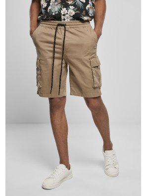 Drawstring Cargo Shorts darksand
