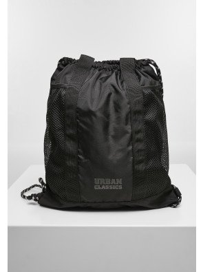 Recycled Polyester Multifunctional Gymbag black