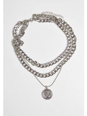 Short Layering Necklace silver