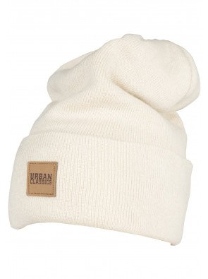 Leatherpatch Long Beanie sand