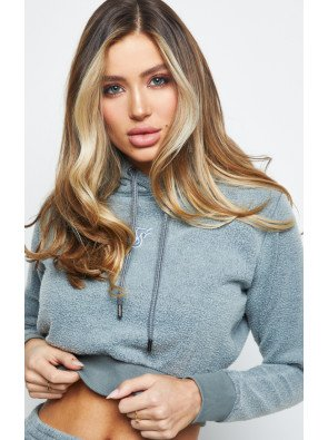 SIKSILK BRUSHED CROPPED HOODIE