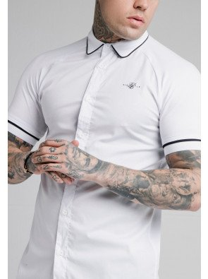 SIKSILK S/S PIPING INSET CUFF SHIRT