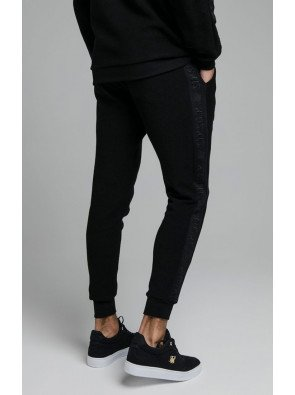 SIKSILK LOOP BACK EMBROIDERED JOGGERS