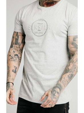 SIKSILK STRAIGHT HEM CHAIN PRINT BOX TEE