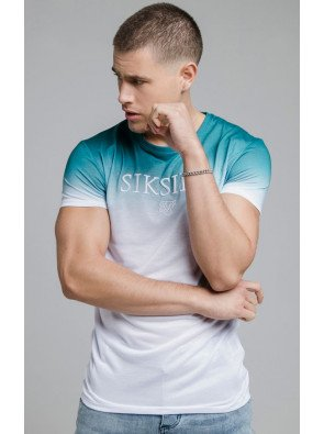 SIKSILK S/S HIGH FADE EMBROIDERY GYM TEE