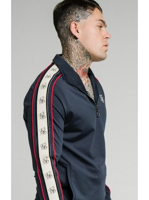 SIKSILK PREMIUM TAPE 1/4 ZIP FUNNEL NECK HOODIE
