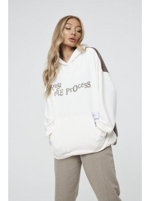SPLICED GRAPHIC TRUST THE PROCESS HOODIE