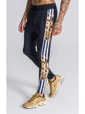 BlackBaroque And Stripes Detail Joggers OFS_NS