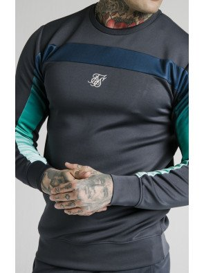SIKSILK L/S TRI FADE PANEL SWEATER