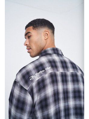 WASHED DISTRESSED CHECK SHIRT