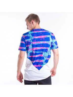 Tričko Hype Neon Lines Diamond White Blue Pink